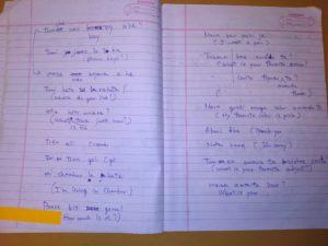 1年目フィールドワーク(2012年7月〜2013年3月)11.メジと私の「初授業」