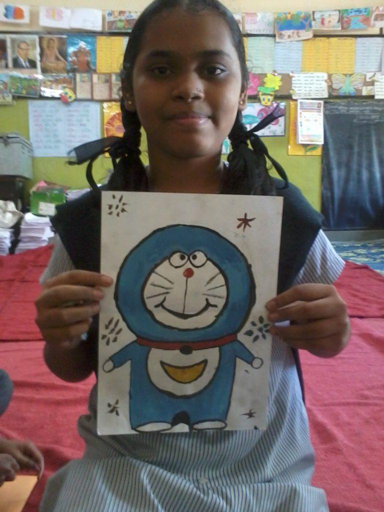 1年目フィールドワーク(2012年7月〜2013年3月)16.小学生の女の子たち inムンバイ